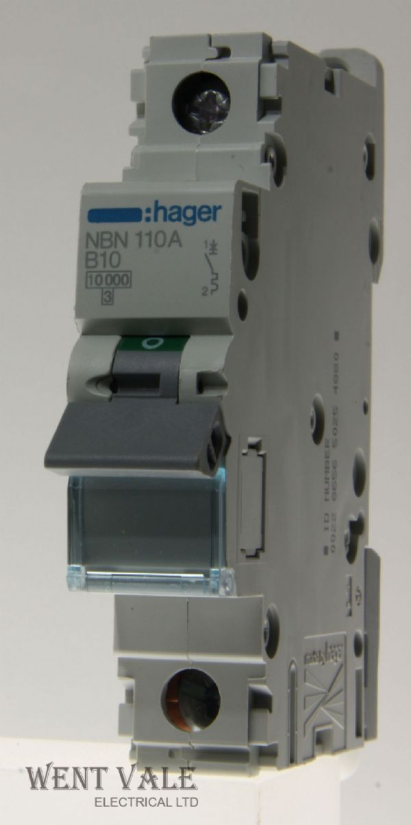 Hager NBN110 - 10a Type B Single Pole MCB New
